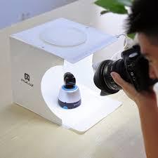 PULUZ <b>Mini Foldable</b> LED <b>Soft Box</b> Photo Studio Props ...