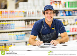 hardware store worker stock photo image  hardware store worker stock image