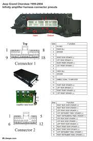 jeep grand cherokee wj stereo system wiring diagrams infinity amplifier pinouts