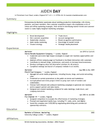 Imagerackus Marvellous Marketing Resume Examples By Aiden Download