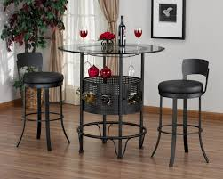 large size of kitchen stylish 3 pc home bar table set round shape table glass arched table top wine cellar furniture
