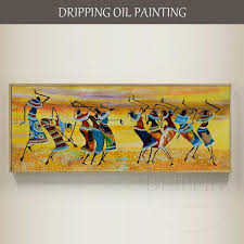 Top <b>Artist Hand-painted High Quality</b> Impression African Oil Painting o