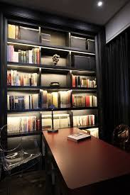 bookcase lighting ideas home office contemporary with ghost chairs built in shelves bookcase lighting ideas