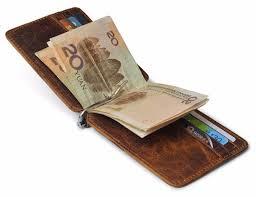 <b>Thin Billfold</b> Vintage <b>Wallet Men</b> Money Clips Genuine Leather ...