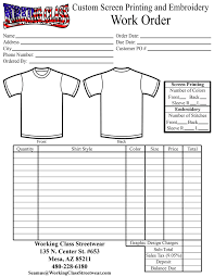 t shirt invoice template resume templates  contractors invoice work order
