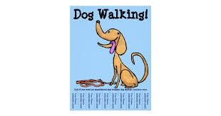 Dog Walking Flyers & Programs | Zazzle Dog Walking Flyer
