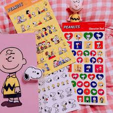 8Pcs/Packs Cartoon Snoopys Stationery Sticker <b>Cute</b> Animation ...