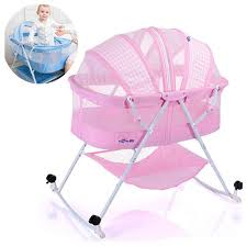 <b>New Multifunction</b> Convertible Baby <b>Cribs</b> Bassinet Bed Folding ...
