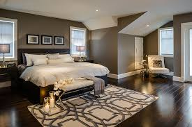 trendy master bedroom photo in other with gray walls and dark hardwood floors bedroom design ideas dark