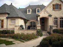 French Country House Plans   e ARCHITECTURAL design   Page Plan W TX  French Country Estate   Courtyard