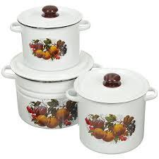 <b>Набор</b> эмалированной <b>посуды Сибирские товары</b> Йогурт 17 ...