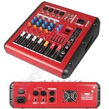 <b>MICWL</b> 4 <b>Channel</b> Radio <b>Bluetooth</b> Audio Mixer Mixing Console ...