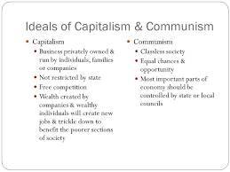 origins of the cold war  ideological differences  mutual    ideals of capitalism  amp  communism capitalism business privately owned  amp  run by individuals  families or