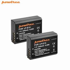 <b>Powtree For Canon</b> 1x7.2V 2200 mAh LP E10 Rechargeable ...