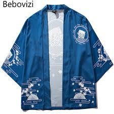 <b>Bebovizi Japan Style Cat</b> Printed Thin Kimono Men Japanese ...