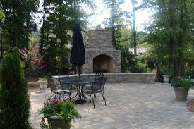 outdoor fireplace paver patio: charlotte privacy fence  orig charlotte privacy fence