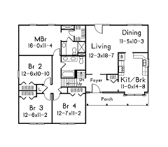 Summit Split Level Home Plan D    House Plans and MoreTraditional House Plan First Floor   D    House Plans and More