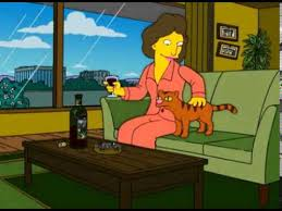 The Beginnings of the Crazy <b>Cat Lady</b> - The Simpsons - YouTube