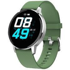 Смарт-<b>часы GEOZON Sky</b> Silver/Green (G-SM07SVRG) купить в ...