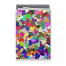 <b>Коробка для футболок</b> Орнамент Яркие сердца #2660269 от ...