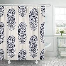 <b>Flower Shower Curtain</b> Oriental Ancient Art Print for <b>Bathroom</b> ...