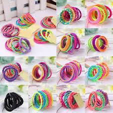 <b>10Pcs</b>/<b>Set Random Color</b> For Girl Elastic Hair Band <b>Kids</b> Hair Rope ...