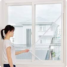 3 Pcs <b>Self</b>-<b>Adhesive Mosquito</b> Screen, <b>Window</b> Fly <b>Insect</b> Curtain ...