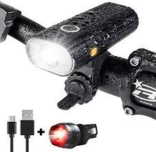 <b>USB</b> Rechargeable 800 Lumen <b>LED Mountain Bike</b> Light Headlight ...