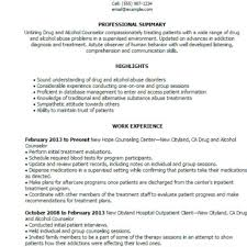 substance abuse counselor resume resume templates substance abuse counselor resume sample