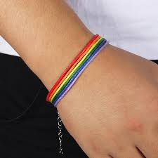 Радуга лесбиянки гордость гей плетеный Канат тесемка, нитка ...