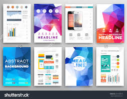 set flyer brochure design templates geometric stock vector set of flyer brochure design templates geometric triangular abstract modern backgrounds mobile technologies