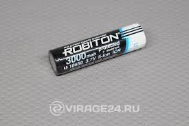 <b>Аккумулятор 18650 3000mAh</b> 3,6V с защитой, <b>Robiton</b> купить с ...