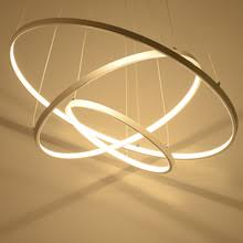 modern pendant lights for living room dining room 321 circle rings acrylic ceiling dining room lights photo 2