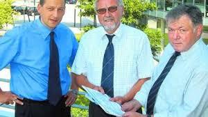 Henning Franke (von links), Henning Eckel und Karl Niebuhr präsentierten gestern das neue 6-Millionen-Euro-Biokraftwerk-Projekt. Foto: Klaus Helmke - 300-008-1892012-220704fk-a