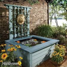 diy patio pond: outdoor pond ideas pond in a box