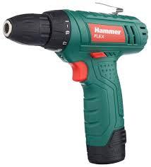 <b>Аккумуляторная дрель</b>-шуруповерт <b>Hammer</b> ACD12LE 18 Н·м ...