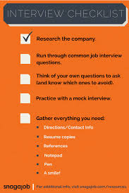 job interview checklist snagajob blog interview checklist
