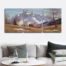 <b>Laeacco 3 Panel</b> Mountain Wall Art Winter Posters and Prints ...