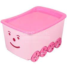Ящик для игрушек Элластик-Пласт Гусеница 57.5х41.0х34.5 см ...