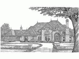 Chateau House Plan   Square Feet and Bedrooms from Dream    Front