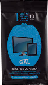 Влажные <b>салфетки</b> GAL д/<b>экранов и</b> плазм.пан., мониторов с ...
