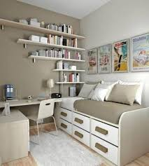 day bed under nice picture beside cute book storage in small office ideas with sweet lamp side books on table plus simple chair cheap office ideas