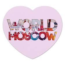 """Коврик для мышки (сердце) """"<b>DIFFERENT WORLD</b>"""": Moscow ..."""