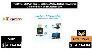 <b>Free Driver</b> USB <b>Wifi Adapter 600Mbps Wi fi Adapter</b> 5ghz Antenna ...