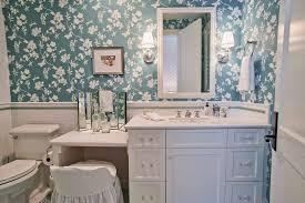 small bathroom chandelier crystal ideas: small bathroom vanity ideas bathroom traditional with blue floral wallpaper green
