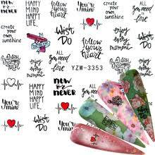 YZWLE 2020, 1 лист, листья, переводные <b>наклейки для ногтей</b> ...