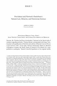 providence and newton s pantokrator natural law miracles and newton and newtonianism newton and newtonianism