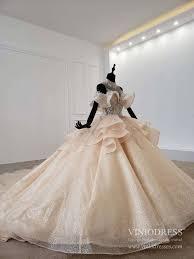Luxury <b>Champagne Princess Wedding</b> Dresses Ball Gowns Long ...