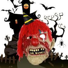 <b>Halloween Horror</b> Mask Party <b>Plush Bloody</b> Clown Latex Mask ...