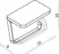 <b>Держатель туалетной бумаги Langberger</b> 35041B с полкой для ...